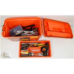ORANGE BOX WITH TOOLS