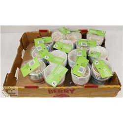 LOT OF 15 PACKS OF 8 DESSERT CUPS W/ SPOONS