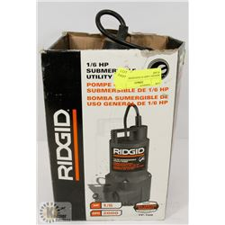RIDGID 1/6HP SUBMERSIBLE UTILITY PUMP