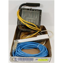 ESTATE FLAT OF EXTENSION CORD, WORKLIGHT & POWER-
