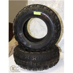 LOT OF 2 AT 21X7X10 TIRES FOR TRACTOR OR ATV