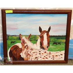 "HORSE OIL ON CANVAS 27""X23"""