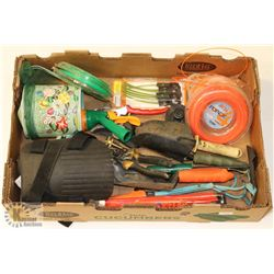 LARGE FLAT OF GARDENING TOOLS INCL. NEW
