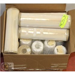 BOX OF 9 7/8 FILTERS FOR SEDIMENT