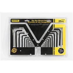 NEW! 25PC HEX KEY WRENCH SET