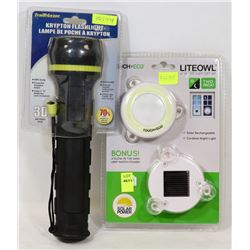 NEW! SOLAR RECHARGEABLE CORDLESS NIGHTLITE SOLD
