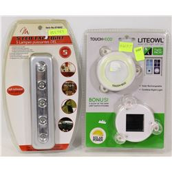 NEW 5LED TAP LIGHT SOLD WITH SOLAR RECHARGEABLE