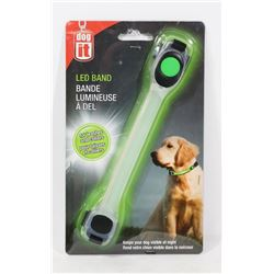 NEW! DOG IT -LED BAND FOR LEASHES & COLLARS -GREEN