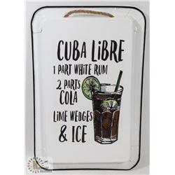 NEW CUBA LIBRE METAL PAN WALL HANGING