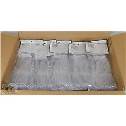 CASE OF 40 PKGS OF 12 HEAVIER REUSABLE CLEAR