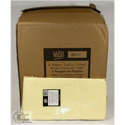 CASE OF 30 IVORY(LIGHT YELLOW) TISSUE TOP