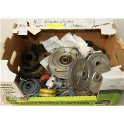 12 VOLT ELECTRIC CLUTCH WITH PULLEYS/MISC