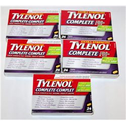 BAG OF TYLENOL EXTRA STRENGTH COMPLETE COLD,