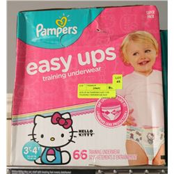BOX OF 66 PAMPERS EASY UPS TRAINING UNDERWEAR SIZE