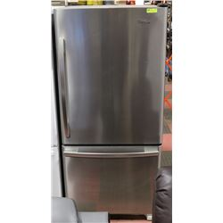 WHIRLPOOL STAINLESS STEEL BOTTOM MOUNT FRIDGE