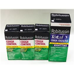 LOT OF 4 ASSORTED ROBITUSSIN COUGH SYRUP