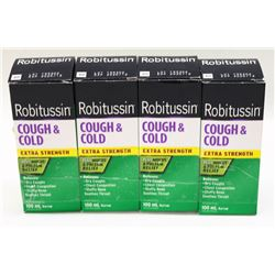 LOT OF 4 ROBITUSSIN 100ML COUGH & COLD SYRUP