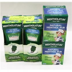 LOT OF MENTHOLATUM MENTHOL RUB OINTMENT & ROLL