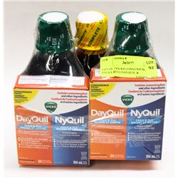 LOT OF 2 VICKS CONVENIENCE PACKS WITH DAYQUIL &
