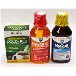 BAG WITH DAYQUIL, NYQUIL AND HERBION COLD & FLU