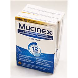 LOT OF 3 MUCINEX EXTENDED RELEASE BI LAYER TABLETS