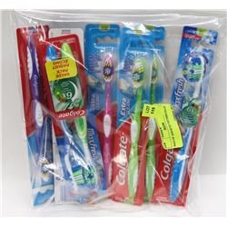 BAG OF ASSORTED TOOTHBRUSHES