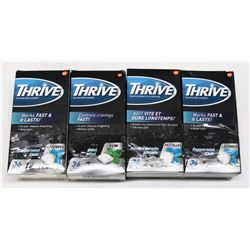 LOT OF 4 THRIVE ASST 36PC NICOTINE LOZENGES