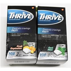 LOT OF 2 THRIVE ASST 108PC NICOTINE LOZENGES