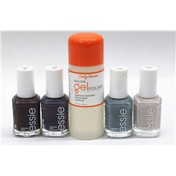 BAG OF ASST ESSIE POLISH AND SALLY HANSEN REMOVER