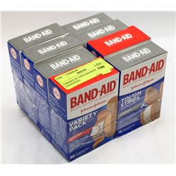 8 BOXES OF ASST BANDAID BANDAGES