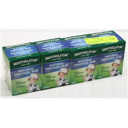 LOT OF 4 MENTHOLATUM NATURAL MENTHOL RUB