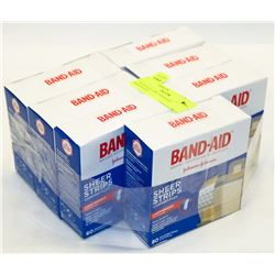 7 BOXES OF ASST BANDAID BANDAGES