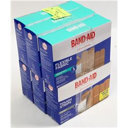 6 BOXES OF ASST BANDAIDS