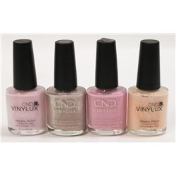 LOT OF 4 ASSORTED CND VINYLUX NAIL POLISH