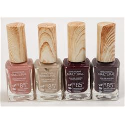 LOT OF 4 ASSORTED SENSATIONAIL NATURAL NAIL POLISH