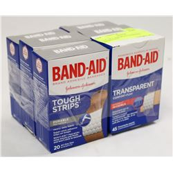 LOT OF 6 ASSORTED BANDAID BANDAGES