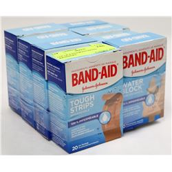 LOT OF 8 ASSORTED BANDAID BANDAGES