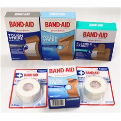BAG OF ASSORTED BANDAID BRAND PRODUCTS