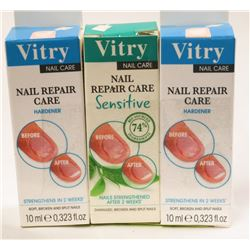 LOT OF 3 VITRY NAIL REPAIR CARE.