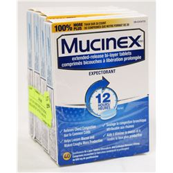 LOT OF 4 MUCINEX EXTENDED RELEASE BI LAYER TABLETS