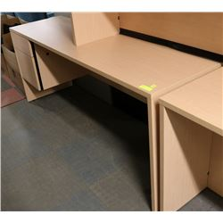 NEW LIGHT WOOD TONE LARGE OFFICE DESK