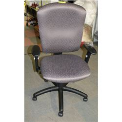 NEW GREY FABRIC HYDRAULIC OFFICE CHAIR