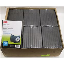CASE OF 60 DVD CASES
