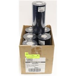 BOX OF THERMAL TRANSFER RIBBON, 6 PER BOX