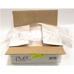 BOX OF 500 MULTIPURPOSE CLEAR PLASTIC BAGS, 9LB
