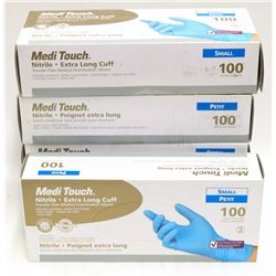 LOT OF 5 MEDI TOUCH NITRILE EXTRA LONG CUFF POWDER