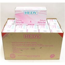 CASE OF 10 SMALL HEDY OPTIMIM NITRILE PINK POWER