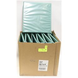 "BOX OF 12-  1"" GREEN BINDERS"