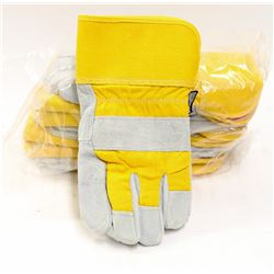 LOT OF 6 FORCEFIELD WORK GLOVES M/L