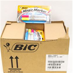 BOX OF 36 YELLOW AND PINK WINDOW MARKERS